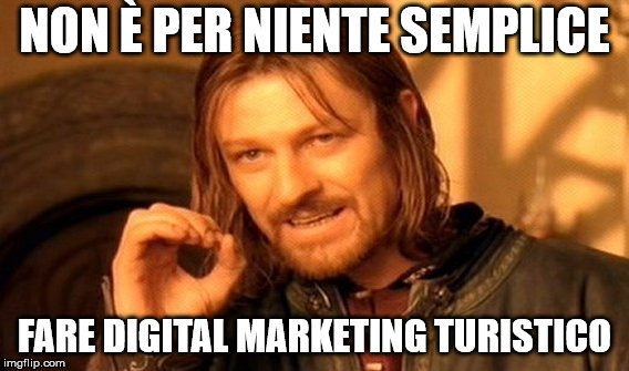 Meme sul Digital Marketing Turistico
