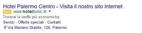 annucio google ads hotel tonic