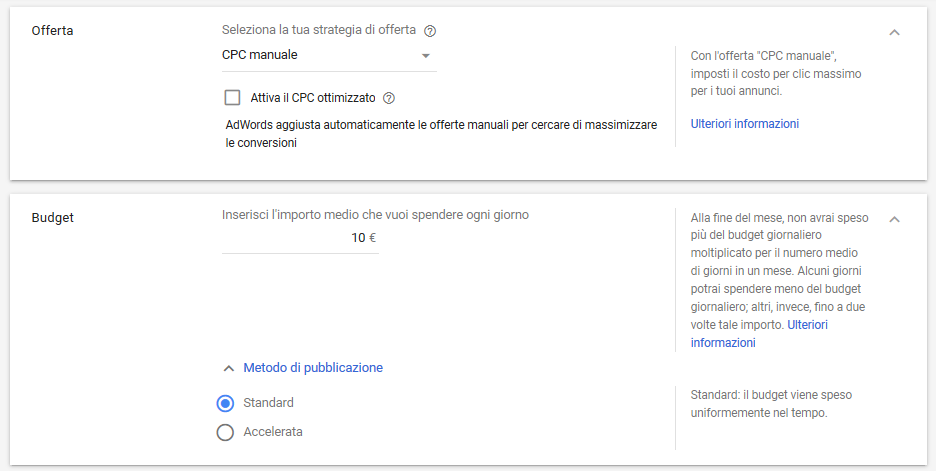 Strategie di Budget e Offerta in Google Ads