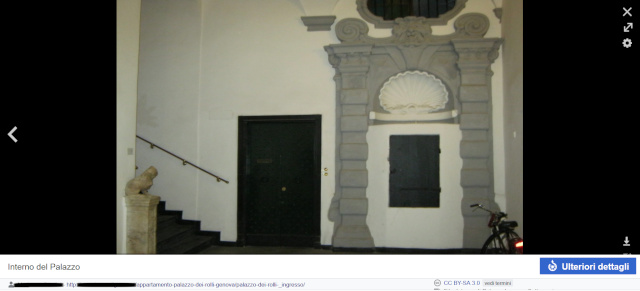 Immagine dell'interno di un Palazzo dei Rolli presente su Wikipedia