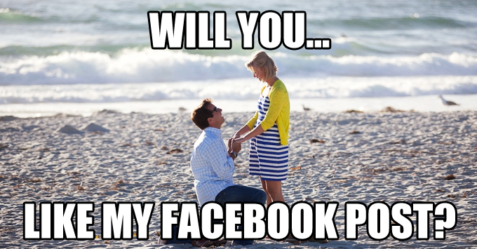 Will you...like my facebook post?