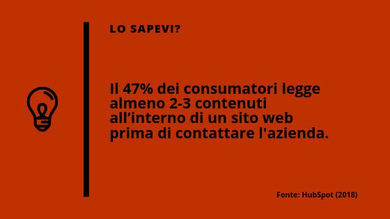 Statistica sulle efficacia dei contenuti web