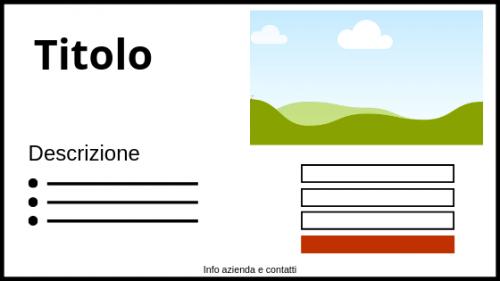 elementi landing page