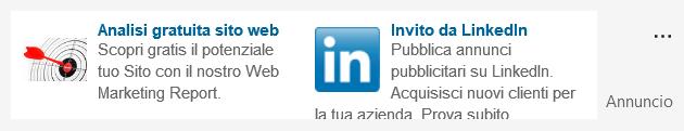 Annuncio di testo LinkedIn di astudio.it