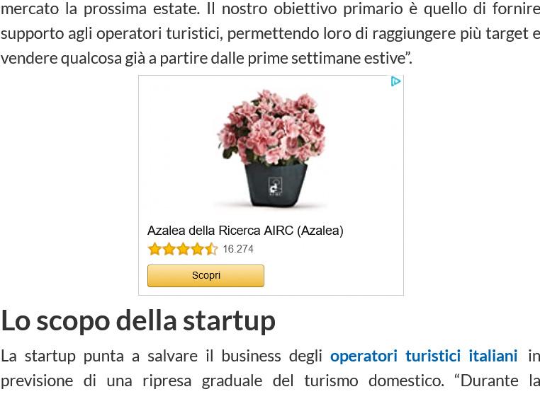 esempio di pubblicità di remarketing di Amazon