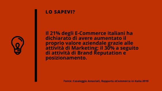 Il 21% degli e-commerce italiano ha aumentato il valore grazie al Web Marketing